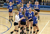 Danville players celebrate their win in five games over Van Buren in the class 2A, Region 8, Round 1 match at Danville advancing them to the quarterfinal round.<br /> Donald K. Aliprandi/The Hawk Eye