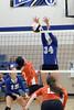 Van Buren's Salena Sayre (2), Logan Schmitt (15) and Danville's Emma Jarrett (34)