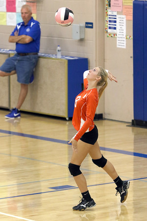 Van Buren's Annalyssa Noll serves during the match against Danville October 18th during the class 2A Region 8 Round 1 match at Danville.<br /> Photo by Donald K. Aliprandi