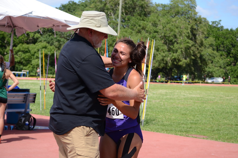 Coach and Athlete Celebration