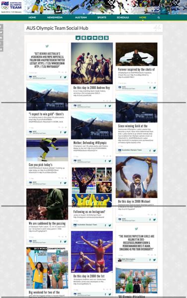 AUS Olympic Team Social Hub