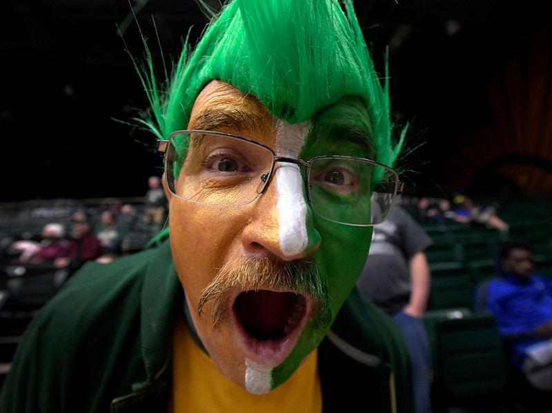 Buzz Feldman poses for a portrait during halftime of the game at Moby Arena at Colorado State University in Fort Collins, Colo. on Wednesday, February 5, 2020.