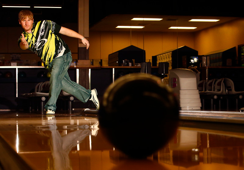Josh Link throws the bowling ball at Fireside Lanes in Billings, Mont. on Tuesday, March 5, 2019. Link, who comes from a family of competitive bowlers, is one of Billings' top bowlers.
