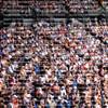 Blurred crowd spectators at the Australian Open in Melbourne, Australia.
