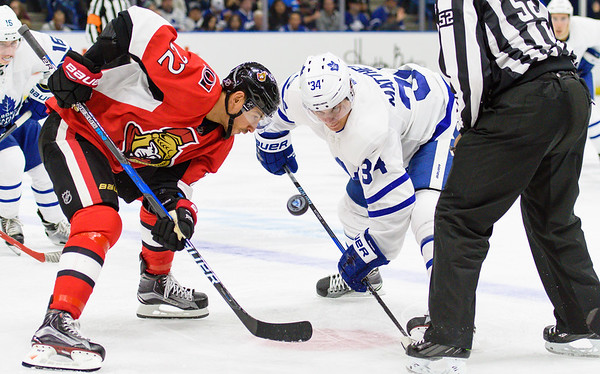 The Toronto Maple Leafs take on the Ottawa Senators in pre season action at the Sask Tel Centre Saskatoon, Saskatchewan, Canada, September 25, 2016