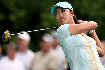 Chris Ammann/Baltimore Examiner Golfer Michelle Wie tees off on the second hole at the McDonald's LPGA Championship at Bulle Rock Golf Course in Havre de Grace on Thursday, June 8, 2006.