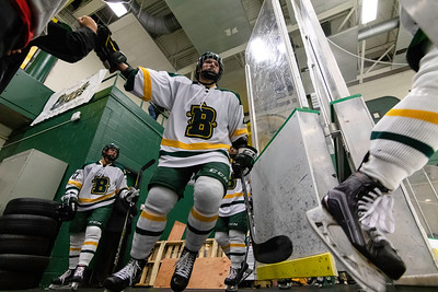 Brockport Hockey players entering the ice