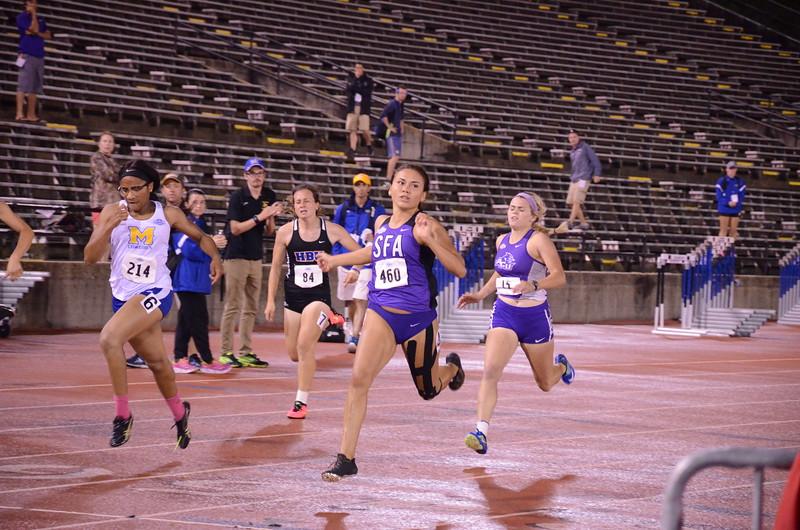 Heptathlon 200m Finish