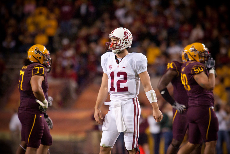 Stanford quarterback Andrew Luck lead his team to a victory over Arizona State