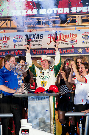 Victory lane photo: Ed Carpenter wins the Firestone 550.