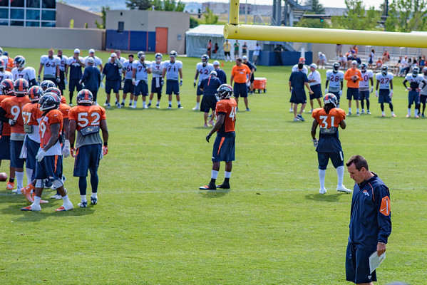 Kubiak at Broncos Training Camp