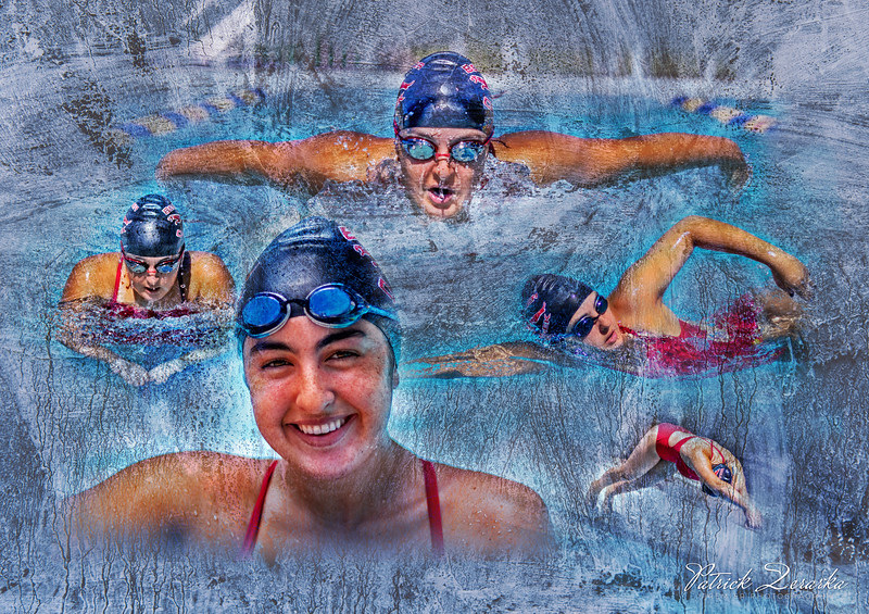Swim Sport Artistic Photo Montage