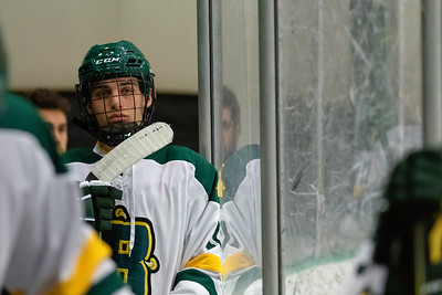 Brockport Forward Jake Colosanti reflecting before going out onto the ice
