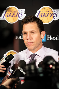 Luke Walton, Head coach of the Los Angeles Lakers
