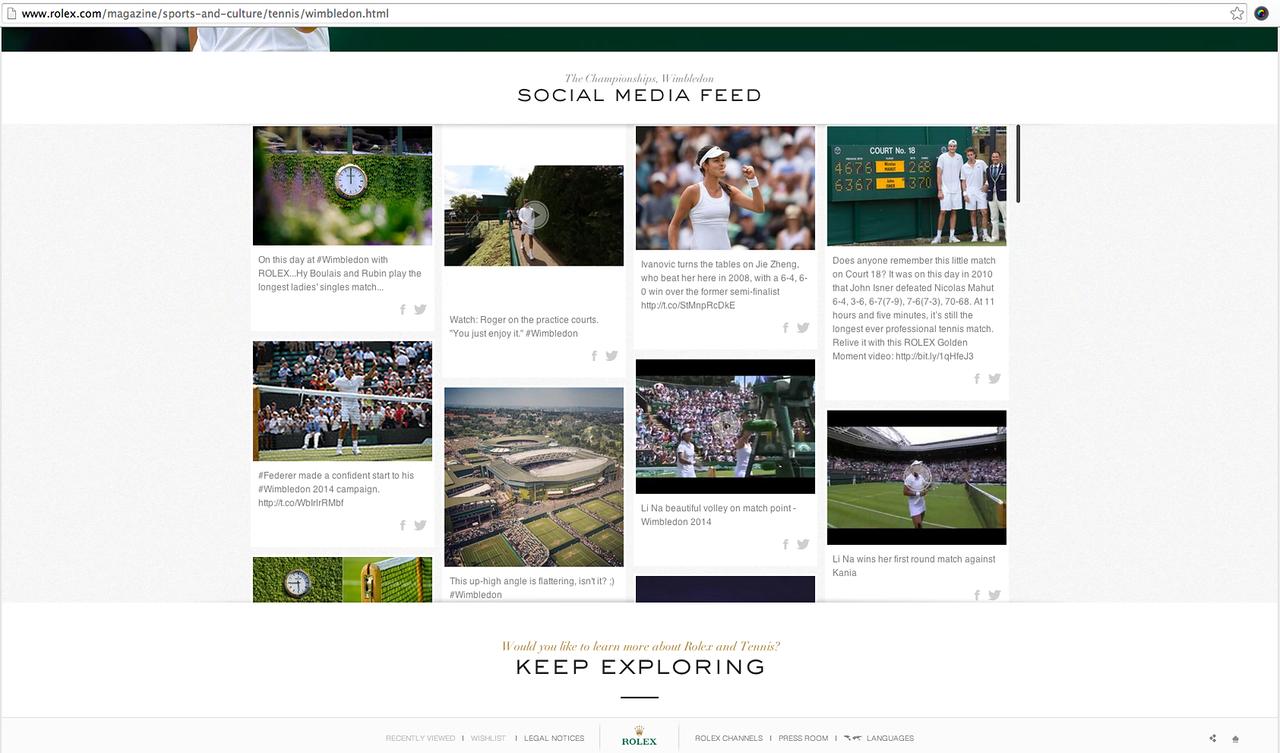 Rolex and Wimbledon 2