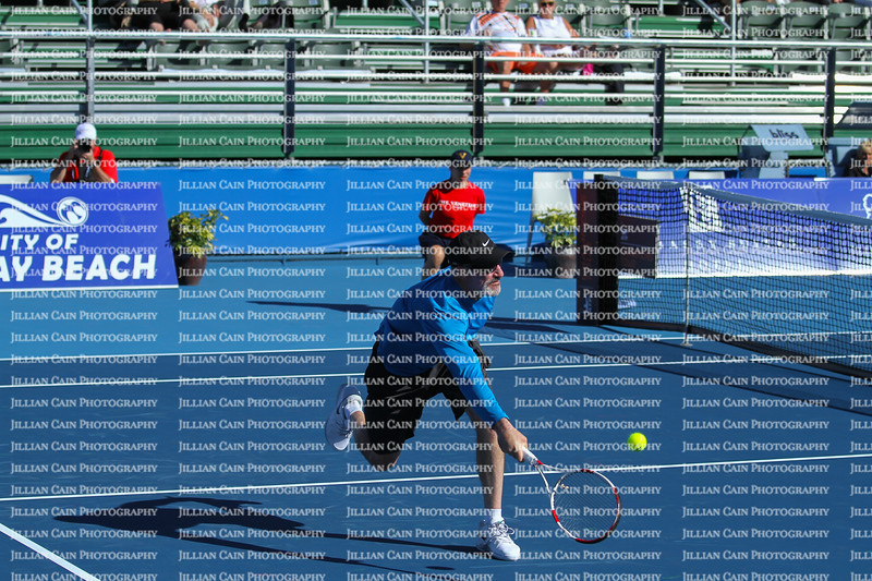 Editorial use only:   Brad Gilbert at the Delray Beach Open, 2015