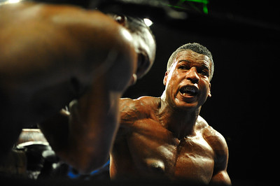 """Nick """"The Terror"""" Asberry takes on """"Gentleman"""" James Shorter at Horseshoe Casino, Friday, June 20th, 2014, in Hammond. 