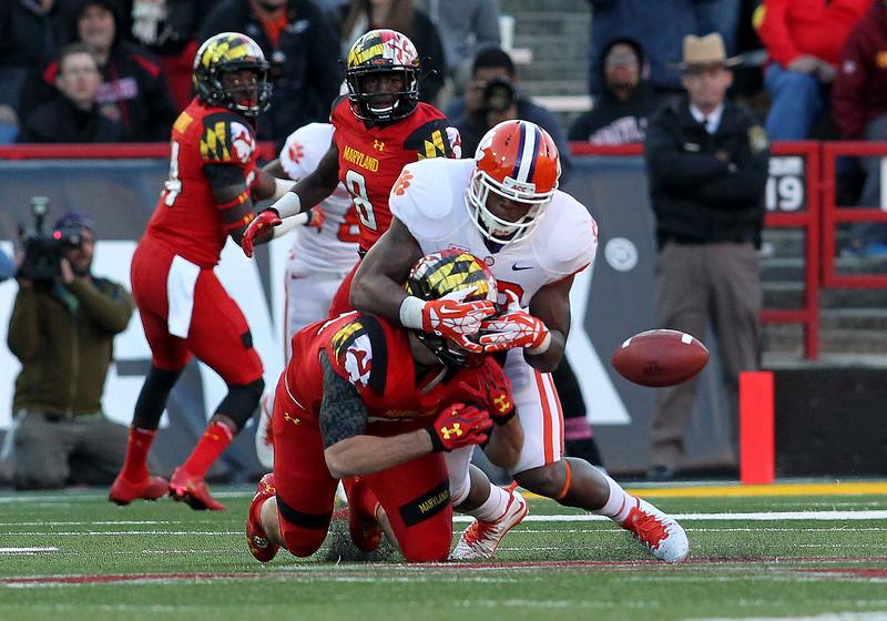 NCAA FOOTBALL: OCT 26 Clemson at Maryland