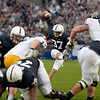 Placekicker Sam Ficken (97) kicks off 60 yards to the Kent State Golden Flashes for an 18 yard return.  Penn State beat Kent State 34-0 on Saturday.<br /> ©The Daily Collegian