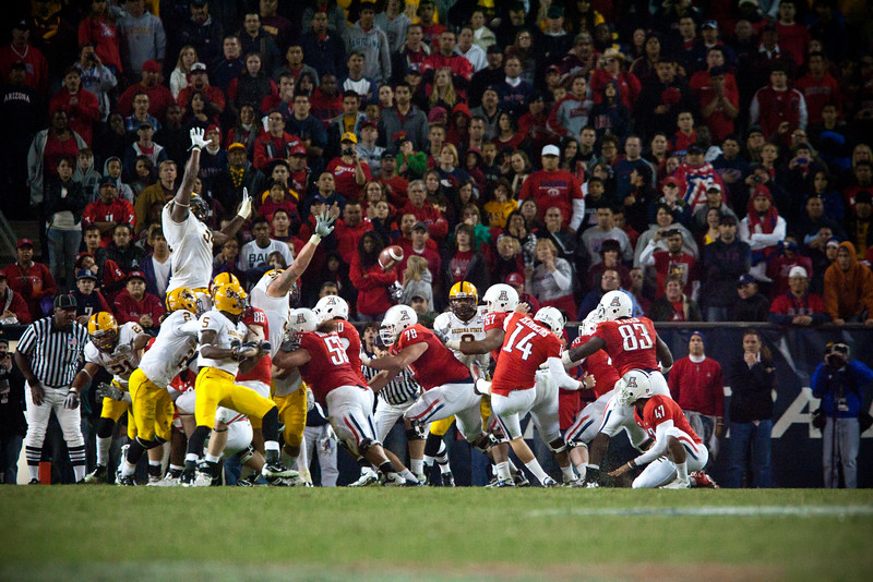 An overtime field goal block leads Arizona State to a win over the University of Arizona