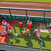 WASHINGTON, DC - SEPTEMBER 22:  in the style of Monet players of the Washington Nationals relax in the Bullpen during a MLB game between the Washington Nationals and the Philadelphia Phillies on September 22, 2020, at Nationals Park, in Washington DC.