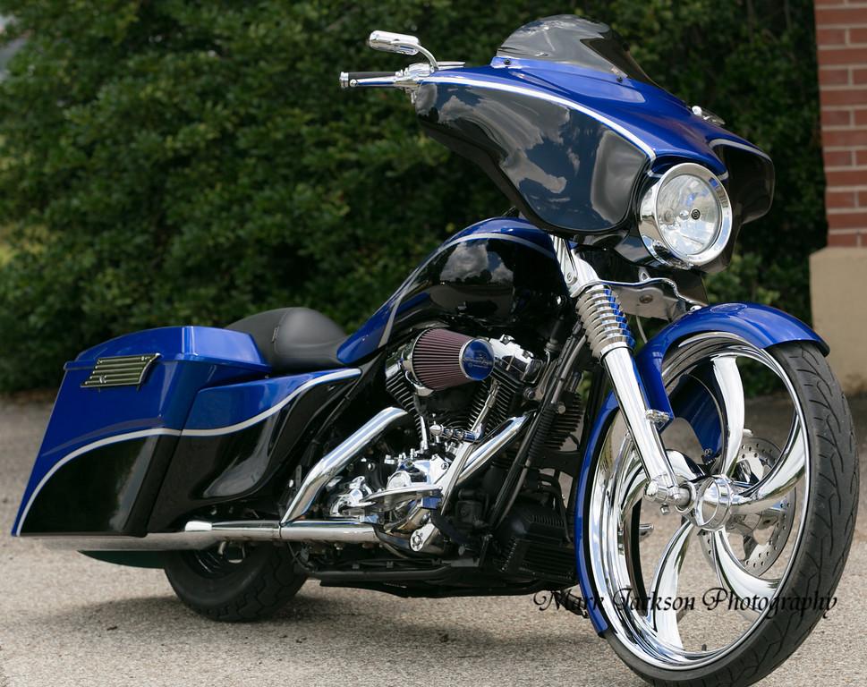 Black and Blue custom FLHX