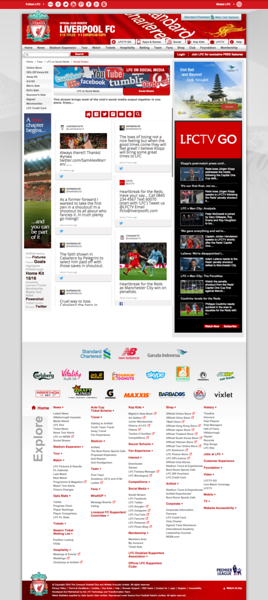 Liverpool FC Chelsea Website