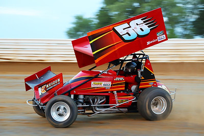 Sprint Car Racing Action