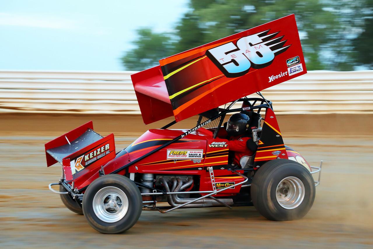 Sprint Car Racing Action