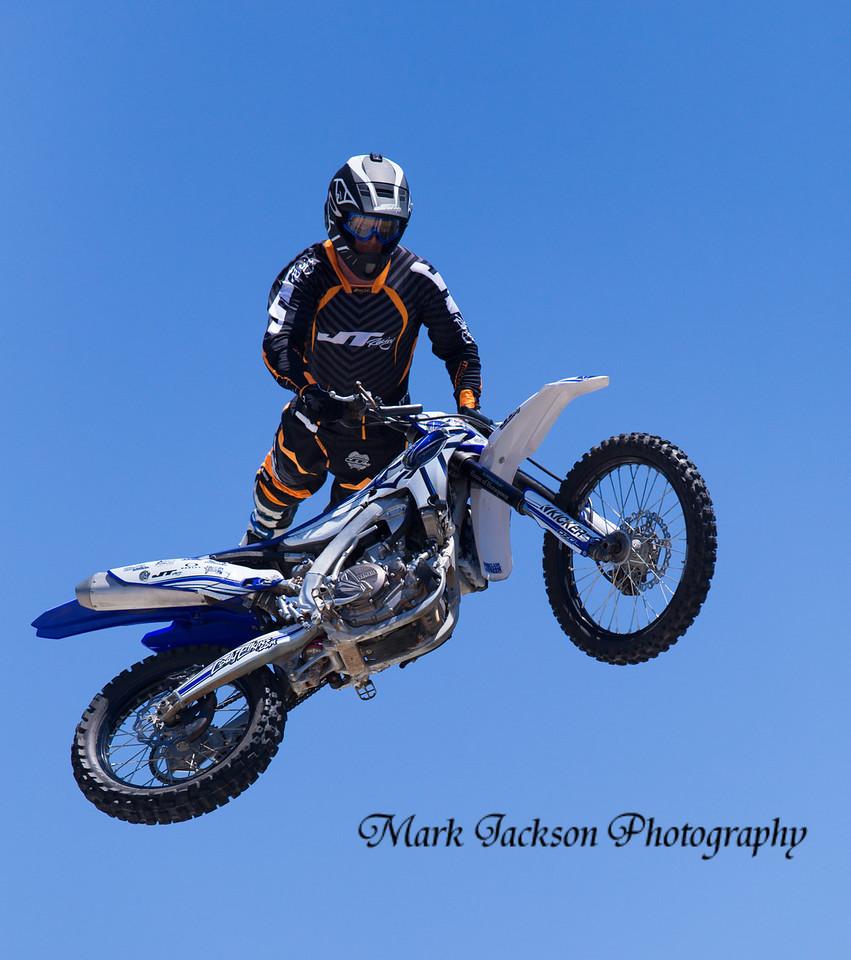 dirt bike ramp jumping at moto gp