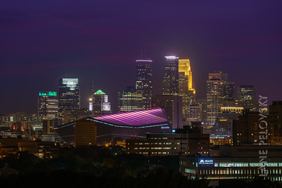 US Bank Stadium - Vikings Colors - Purple and Gold