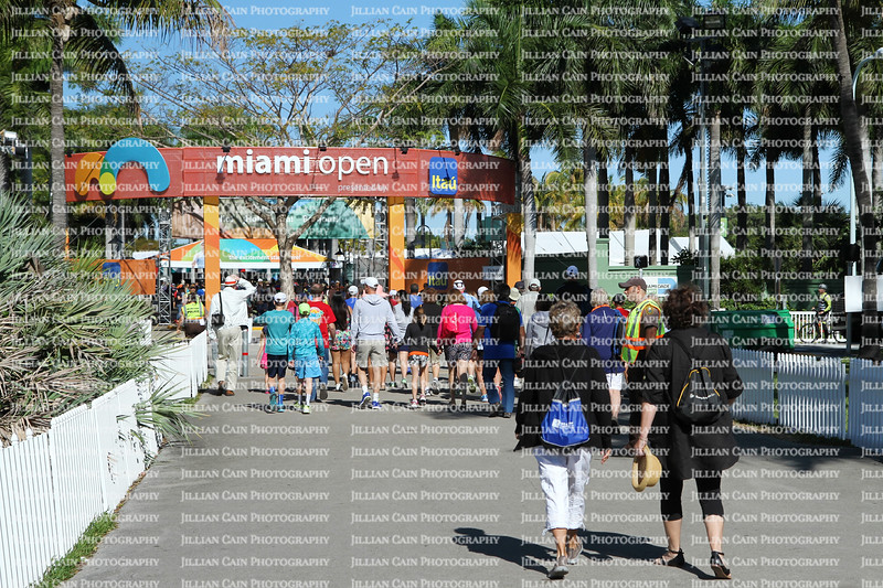 Entrance to the Miami Open 2015
