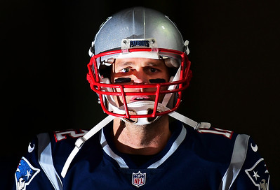 Tom Brady #12 of the New England Patriots walks through a tunnel before the AFC Championship Game against the Jacksonville Jaguars at Gillette Stadium on January 21, 2018 in Foxborough, Massachusetts.