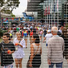 Melbourne, Australia - January 16, 2019.: Large crowds of tennis enthusiast walk outside at the Australian Open. The AO is the first Grand Slam tennis tournament of the year.