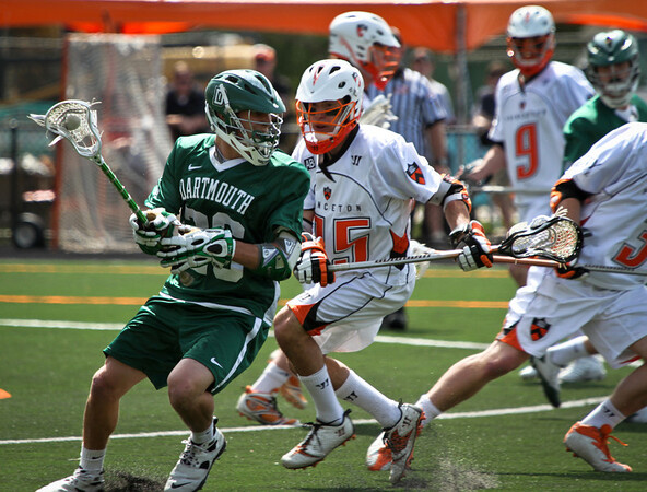 Princeton's Men's Lacrosse team swarms opponents from Dartmouth college on their way to the 2012 Ivy League regular season championship.
