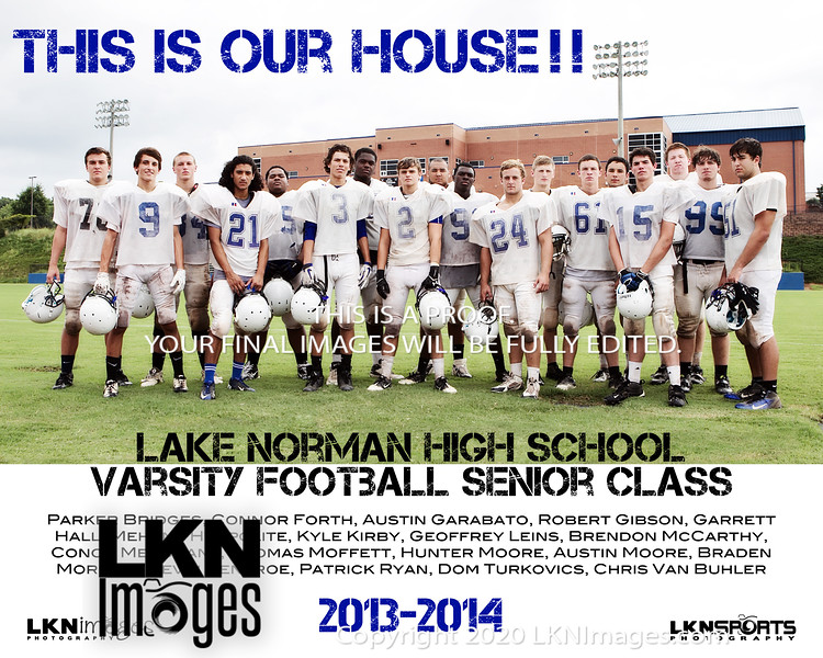 LNHS Varsity Football Seniors