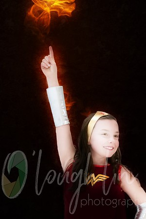 anna wonderwoman with fire finger