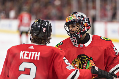 Blackhawks v Nashville Predators 10.27.17 - Duncan Keith and Cory Crawford