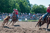 2011 June 26 - Meaford - The Ram Rodeo Tour rolled into the Meaford Fairgrounds this weekend.  The crowd was treated to a high energy event that showcased many talented rodeo riders. Team riders participate in the steer roping event.<br /> Photo Credit: Darren Eagles