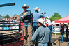 2011 June 26 - Meaford - The Ram Rodeo Tour rolled into the Meaford Fairgrounds this weekend.  The crowd was treated to a high energy event that showcased many talented rodeo riders. The bull riders prepare themselves and their bulls for the show.<br /> Photo Credit: Darren Eagles