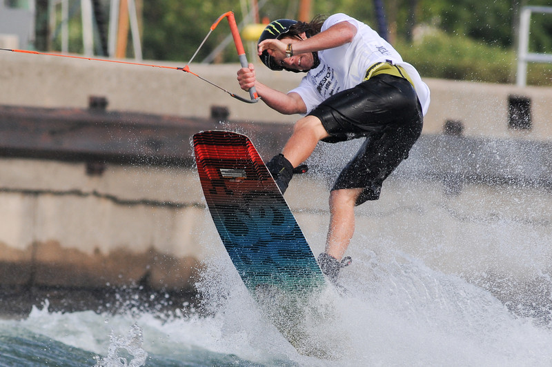 2011 August 6-7 - Collingwood - The Wakestock World Series Sports and Music festival rolled into Millenium Park this past weekend.  Thousands of fans were treated to spectacular wakeboard/wakeskate events as well as a full slate of bands playing on 2 stages.  Rider: Men's 2nd place Wakeboard finisher - Bob Soven<br /> <br /> Photo Credit: Darren Eagles