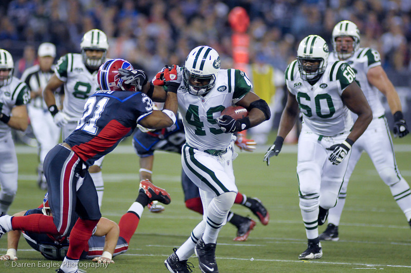 """Toronto - On - The Buffalo Bills host the New York Jets at Rogers Centre on Thursday night.  The Bills are in their second of five years, hosting a regular season """"home"""" game in Toronto."""