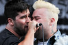 08August 2010: Alexisonfire lead singer George Pettit and guitarist Wade MacNeil rocked the crowd at the 2010 Wakestock World Series, held at Millenium Park in Collingwood, Ontario.  The Men's Pro Wakeboard final winners were: 1st Place - Bob Soven, 2nd Place - Aaron Rathy (Cdn), 3rd Place - Phillip Soven.<br /> Photo Credit: Darren Eagles