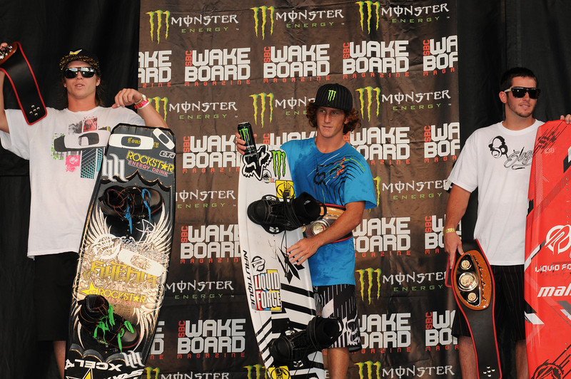 08August 2010:  The 2010 Wakestock World Series Men's Pro Wakeboard final winners were: 1st Place - Bob Soven, 2nd Place - Aaron Rathy (Cdn), 3rd Place - Phillip Soven.  The event took place at Millenium Park in Collingwood, Ontario.  <br /> Photo Credit: Darren Eagles