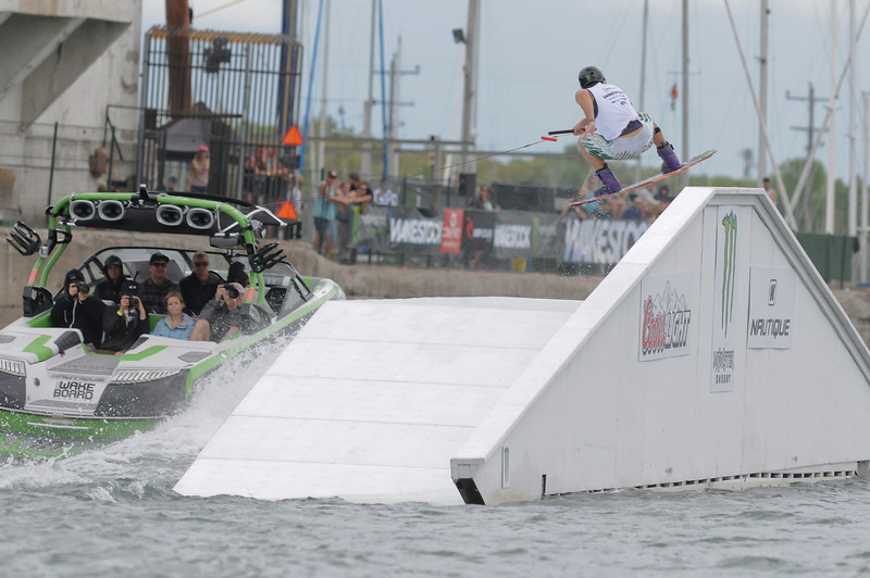 2012 Aug 10-12 - Millenium Park - Collingwood -  The Wakestock World Series wakeboard and music festival rolled into Collingwood for its annual competition and show.  Pro Wakeboard results: 1st - Harley Clifford, 2nd - Aaron Rathy (CDN), 3rd - Philip Soven.   <br /> Photo Credit: Darren Eagles