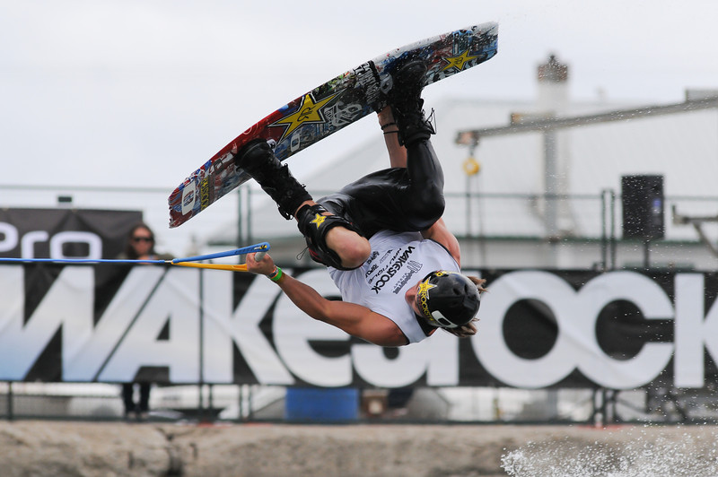 2012 Aug 10-12 - Millenium Park - Collingwood -  The Wakestock World Series wakeboard and music festival rolled into Collingwood for its annual competition and show.  Pro Wakeboard results: 1st - Harley Clifford, 2nd - Aaron Rathy (CDN), 3rd - Philip Soven.   Rider: Aaron Rathy (CDN).<br /> Photo Credit: Darren Eagles