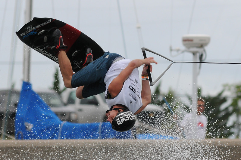 2012 Aug 10-12 - Millenium Park - Collingwood -  The Wakestock World Series wakeboard and music festival rolled into Collingwood for its annual competition and show.  Pro Wakeboard results: 1st - Harley Clifford, 2nd - Aaron Rathy (CDN), 3rd - Philip Soven.   Rider: Andrew Adkinson.<br /> Photo Credit: Darren Eagles