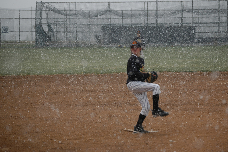 Pitching in a snowstorm