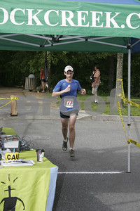 Scenic City 1/2 Marathon, thrid place male Jonathan Warner from Ringgold, GA in 1:31:11