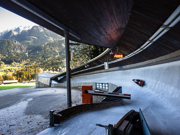 Luge training track